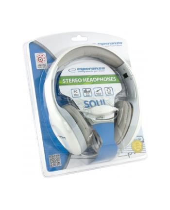 ESPERANZA Słuchawki Audio Stereo z Regulacją Głośności EH138W | 3m