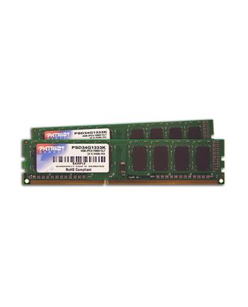 Pamięć RAM DDR3 Patriot 2X2GB 1333MHz Non-ECC CL9 DIMM kit