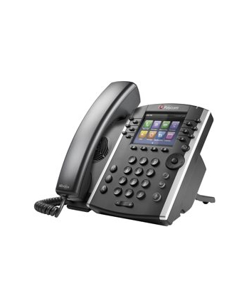 VVX 400 12-line Desktop Phone with HD Voice. Compatible Partner platforms: 20. POE. Ships without power supply.
