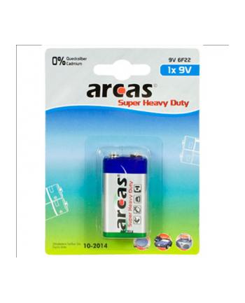 Arcas Super Heavy Duty 9V Block (6LF22), 1-pack