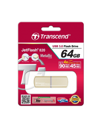 Transcend memory USB 3.0 Jetflash 380G, 64GB Gold