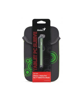 GENIUS GS-701P, bundle pouzdro na 7'' Tablet PC šedé + dotykové pero zelené