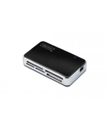 Czytnik kart USB 2.0, uniwersalny, czarno-srebrny DIGITUS