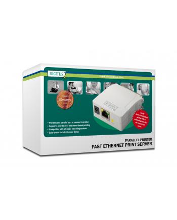 Serwer wydruku Fast Ethernet DIGITUS, 1x port równoległy