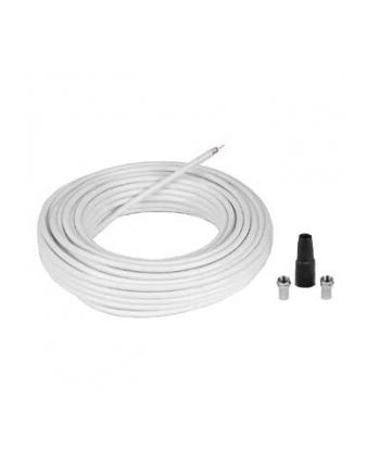 Kabel antenowy 75dB 10m + wtyk F 2 szt. + osłona