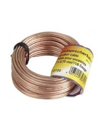 Kabel głośnikowy bez końcówki 10m 2 x 0,75MM