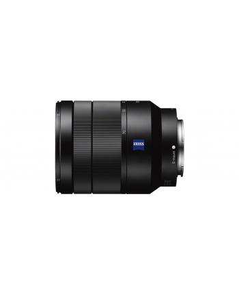 Sony SEL-2470Z Vario-Tessar T* FE 24-70mm, E35mm, F4 ZA wide angle lens. 0.4m minimum focus distance, 7 blade