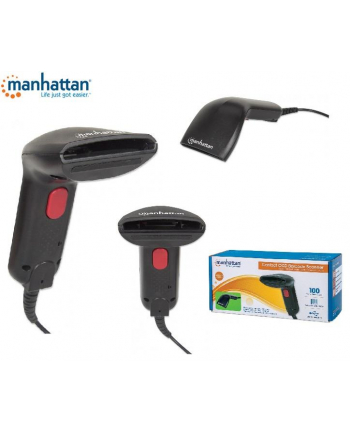 Manhattan Skaner kodów kreskowych CCD kontaktowy USB szerokość odczytu 60 mm