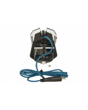 Gembird gamingowa mysz optyczna USB, 2400 DPI,  niebieska