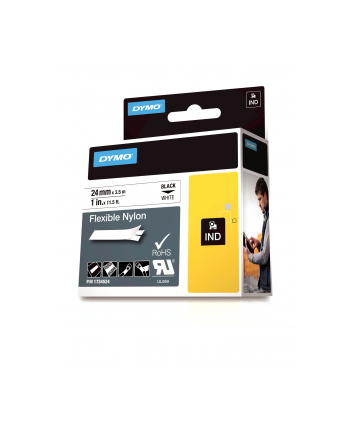 Taśma Dymo elastyczna nylonowa- biała 24x3 5
