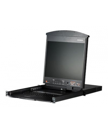 8P CAT-5 HIGH DENSITY DUAL RAIL LCD KVM
