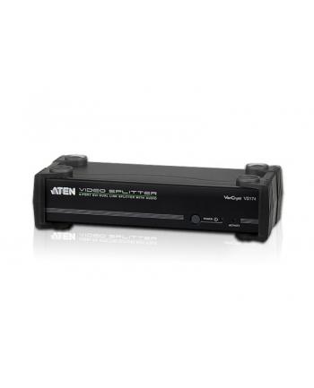 4 PORT DVI Dual Link Splitter W/Audio W/ EU ADP