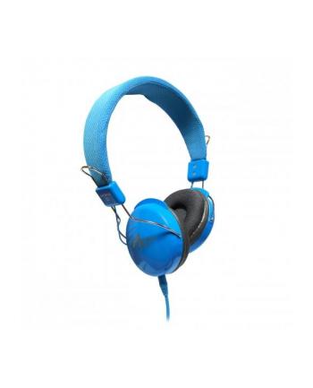 ART Słuchawki AP-60B z mikrofonem niebieskie