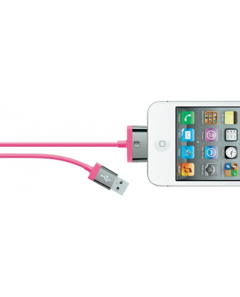 Belkin CABLE,2.1A,30PIN,CHARGE/SYNC,2M,PINK