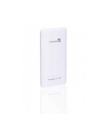 Power bank Colorovo PowerBox Slim 3000 mAh  portable charger, 3 tips, White