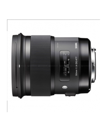 Sigma 50mm F1.4 DG HSM for Canon, 13 Elements in 8 Groups, 46.8 degrees angle of view, 9 Blades, filter Size: 77mm, focusing distance 40cm, Compatible with Sigma USB Dock [Art]