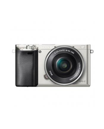 Sony A6000 Standard Zoom kit, Silver, 24MP, 16-50mm, Exmor APS HD CMOS sensor, 3.0'' LCD, HD 1080i movie, BIONZ, Intelligent AUTO, Sweep Panorama with 3D, HDMI mini, Media: Memory Stick PRO, SD/SDHC & SDXC card, Li-Ion batt.