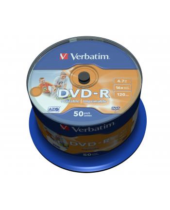 DVD-R VERBATIM AZO 4.7GB 16X WIDE PRINTABLE NON-ID SP 50SZT