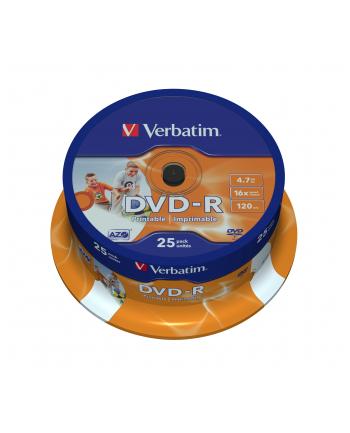DVD-R VERBATIM AZO 4.7GB 16X WIDE PRINTABLE SP 25SZ