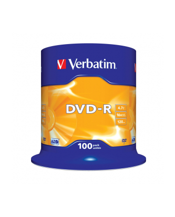 DVD-R VERBATIM AZO 4.7GB 16X MATT SILVER SP 100SZT