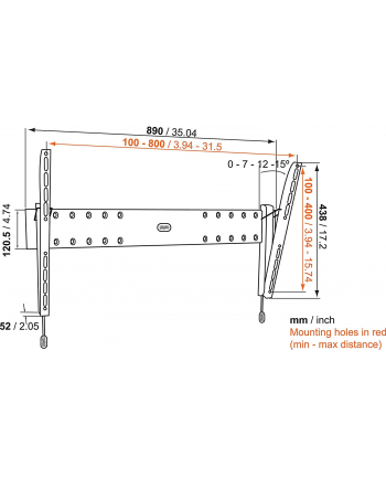 Vogels Vogel BASE 15 L TILT 40-80'' VESA 800*400 70kg