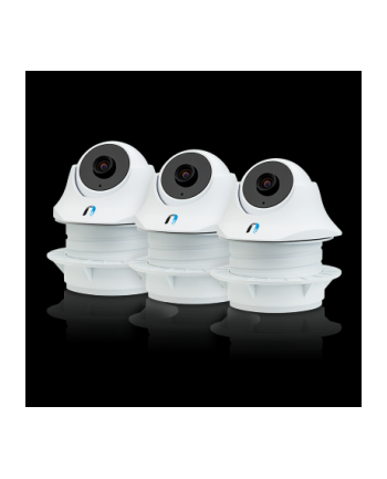 Ubiquiti Networks Unifi UVC-Dome Video IP Camera,IR LED,H.264,720p HD,30 FPS,Mic,PoE,Indoor -3Pack