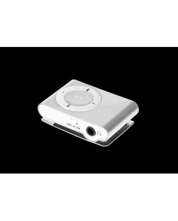 Odtwarzacz MP3 Quer z czytnikiem kart - srebrny