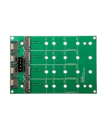 Delock Konwerter 3.5″ 4 x 7-pinowe gniazdo SATA > 4 x złącze M.2 NGFF