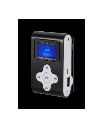 Odtwarzacz MP3 / Dyktafon / Radio FM  z LCD czarny