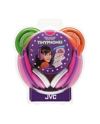 JVC Sluchawki dziecięce HA-KD5-P ograniczenie glośności, naklejki, przewod 0.8m
