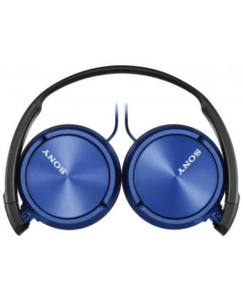 Słuchawki nauszne zamknięte składane, niebieskie SONY MDRZX310L.AE