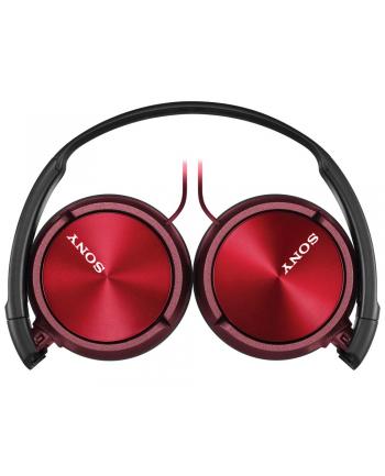 Słuchawki nauszne zamknięte składane , czerwone SONY