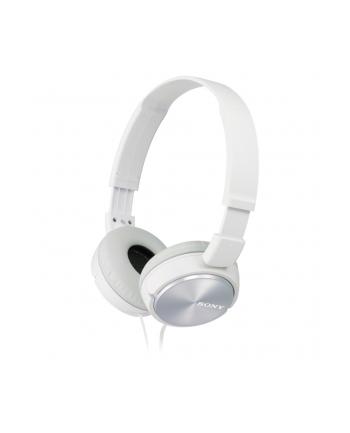Słuchawki nauszne zamknięte składane, białe SONY MDRZX310W.AE