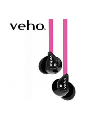 Veho 360° Z-1 Earbuds, Pink/ Compatible with all devices using 3.5mm output jack/ 10mm Speaker with Bass Enhancement/ Qube Noise Isolating Technology/ Sound Sensitivity: 105db +/- 3bd/  Impedance: 18 ohms