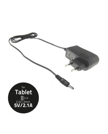 Qoltec Ładowarka/zasilacz sieciowy do Tabletu 5V-2.1A, Wtyczka: 3.0x1.0