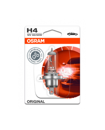OSRAM Headlight Original Single Blister Pack 60/55W P43t 12V H4