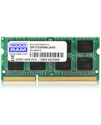 GOODRAM SO-DIMM DDR3 4096MB PC1600 CL11