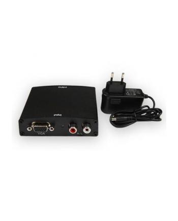 4World Konwerter VGA + R/L Audio na HDMI