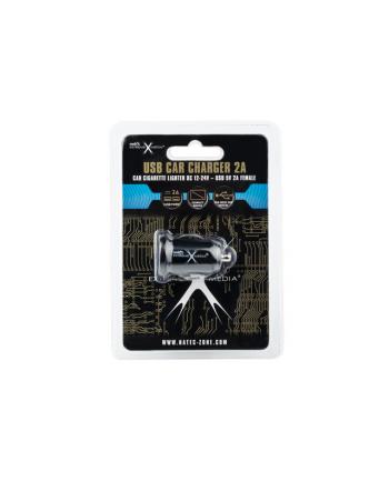 Natec Uniwersalna ładowarka samochodowa 12V/24V->2x USB 5V/2A, Mini, Black