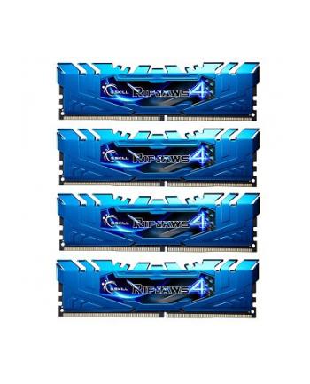 G.SKILL DDR4 32GB (4x8GB) Ripjaws4 2400MHz CL15 XMP Blue