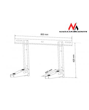 Maclean Uchwyt wspornik MC-623 do klimatyzatora 200kg