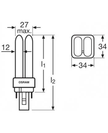 DULUX D 18W/830 220-240V G24d-1 10X1 OSRAM