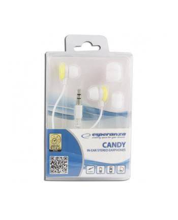 ESPERANZA Słuchawki Douszne Audio Stereo CANDY EH150Y Żółte