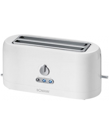 Clatronic TA 245 Toaster, for 4 slices with extra long slots, Centring, Thrawing out, Reheat & quick stop, White
