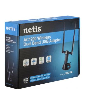 Netis Bezprzewodowa Karta Sieciowa USB MINI WIFI (WLAN AC 1200 MBIT/S),2x antena