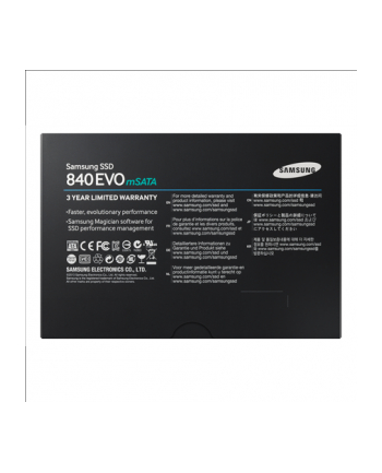 Samsung SSD 840 EVO 250GB 2.75mm mSATAIII 6Gb/s, Sequential Read Speed: Up to 540MB/s, Sequential Write Speed: Up to 520MB/s