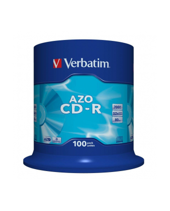 CD-R VERBATIM AZO 700MB 52X CRYSTAL SP 100SZT
