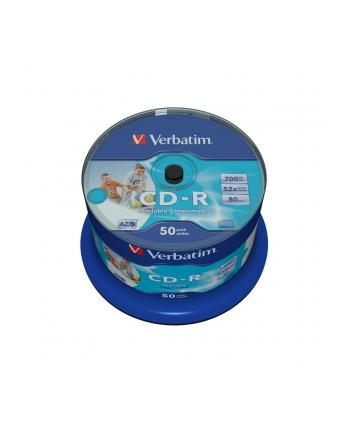 CD-R VERBATIM AZO 700MB 52X WIDE PRINT SP 50SZT