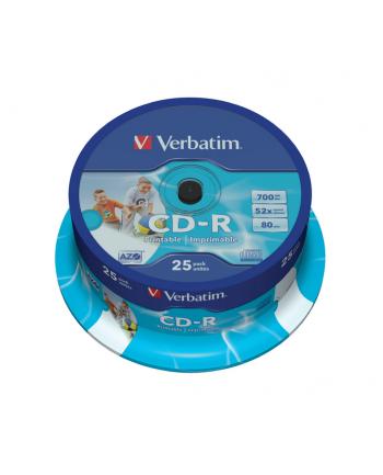 CD-R VERBATIM AZO 700MB 52X WIDE PRINT SP 25SZT