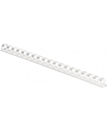 Fellowes Grzbiet plastikowy okrągły 8mm biały, 100 szt.